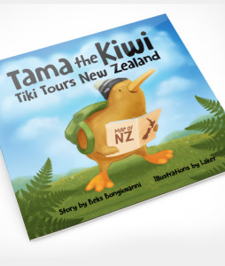 Tama the Kiwi Tiki Tours NZ - Children's Book