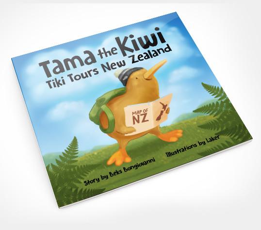 Tama the Kiwi Tiki Tours NZ – Children's Book